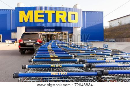Samara, Russia - September 24, 2014: Metro Cash & Carry Samara Store. Metro Group Is A German Global