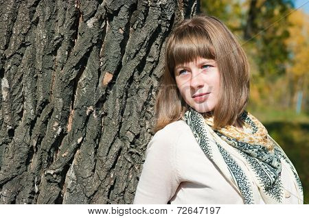 The Beautiful Girl At A Tree