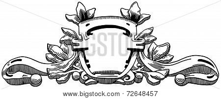 Decorative element of the facade of a historic building in Lviv