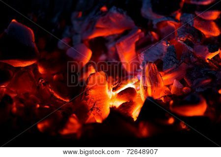 Burning Charcoal In The Dark