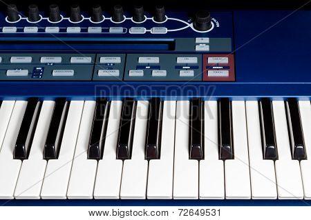 Keys blue piano synthesizer