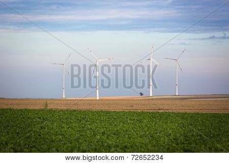 Wind generators in Rhine-Hesse, Germany
