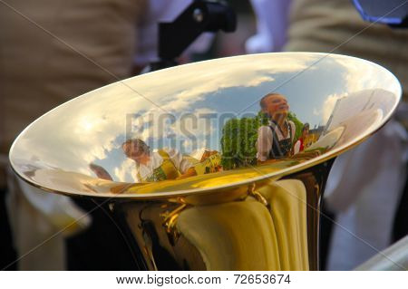 Reflection in a tuba