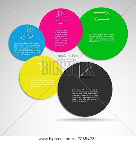 Flat Infographics Design Template