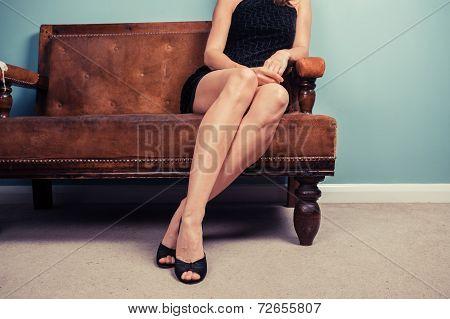 Sexy Woman On Sofa