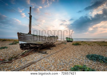 Boats On The Beach In Kent