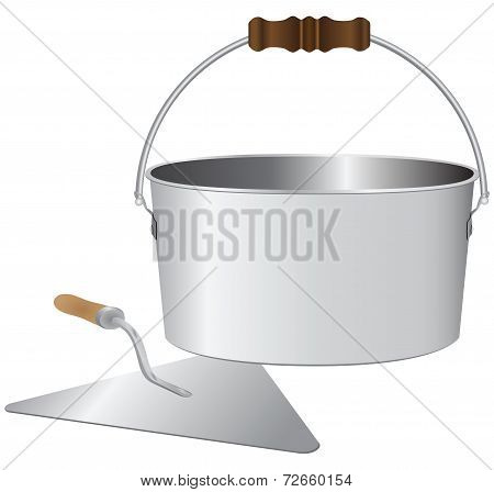 Bucket And Trowel Bricklayer