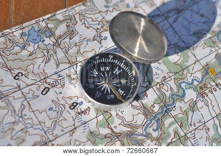 Compass, Map.