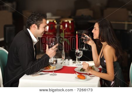 Romantic Couple Abendessen