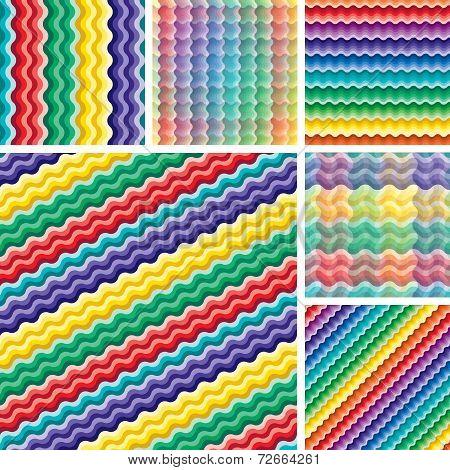 Seamless Vivid Wave Patterns