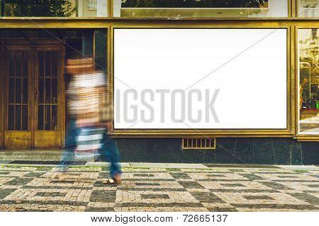 Blank Shop Window As Copy Space