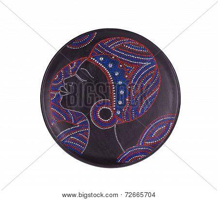 Ceramic plate varnished.