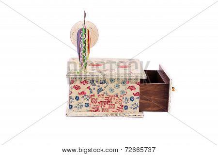 Handmade box decorated.