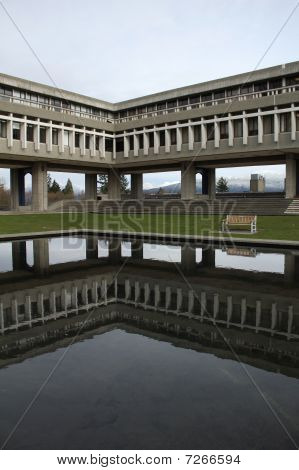 Simon Fraser University Reflection vertical