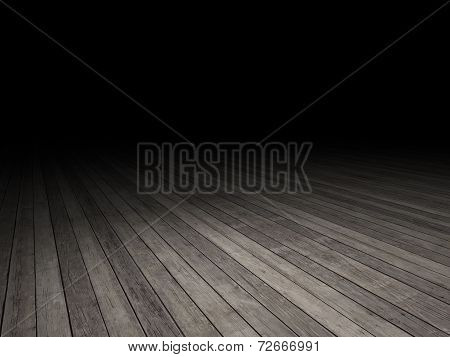 Wood Floor With Dark Background