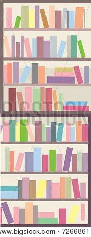 Book shelves seamless banner