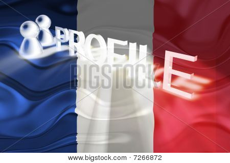 Flag Of France Wavy Profile