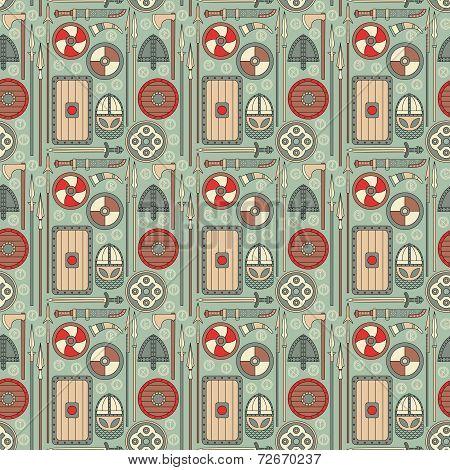Seamless Viking Pattern 01