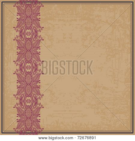 flower design on grunge background