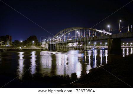 Old Bridge In Szeged At Night