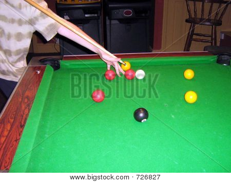 Playing Snooker