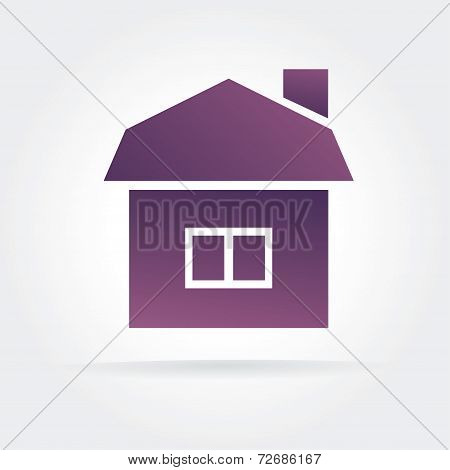 Abstract vector house icon concept isolated on white background