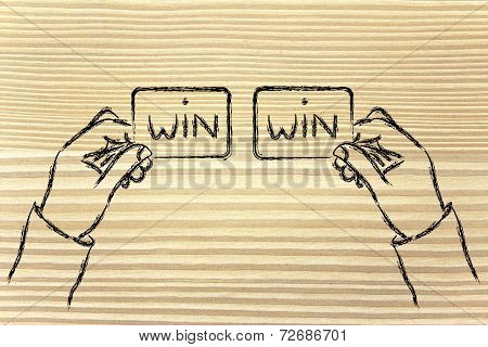 Hands Exchanging Win Win Solutions