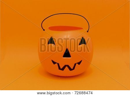 Halloween Pumpkin candy bucket for trick-or-treating