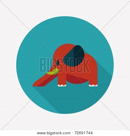 Elephant Slide Flat Icon With Long Shadow,eps10