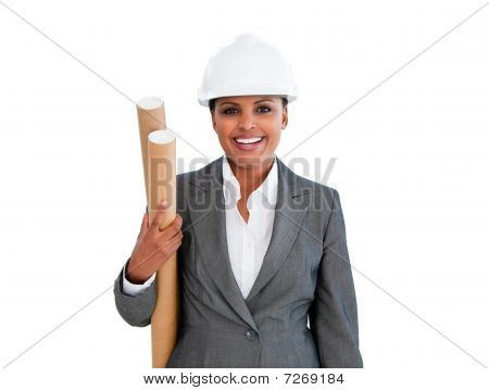 Portrait Of An Ethnic Female Architect