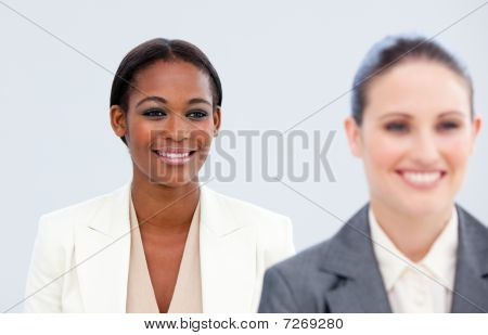 Portrait Of Two Radiant Businesswomen