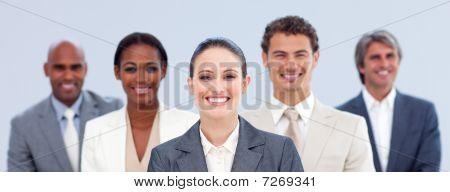 Multi-ethnic Business Team Standing