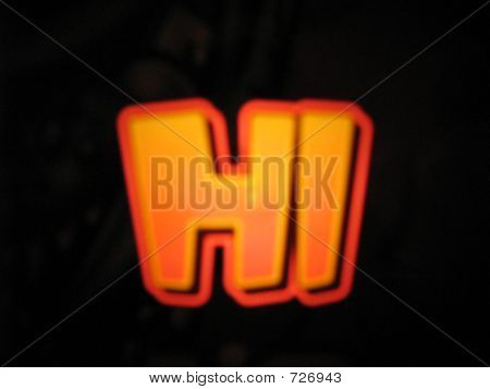Hallo. Invitation.Sign.Abstract.Symbol