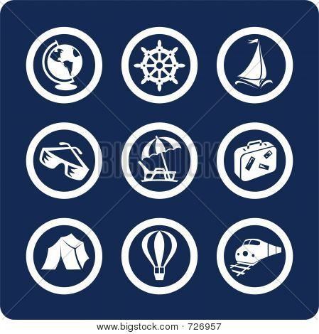 Travel And Vacation Icons (set 13, Part 1)