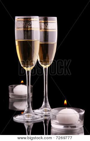 Glasses And Candles