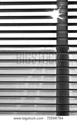 Shutter Blind Of A Window In Sunshine