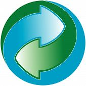 stock photo of reprocess  - Green Dot packaging symbol  - JPG