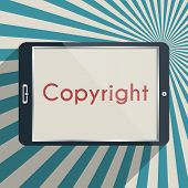 stock photo of plagiarism  - Concept for protection of intellectual property and copyright - JPG