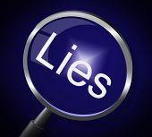 image of tell lies  - Lies Magnifier Meaning Fraud Honest And Lying - JPG