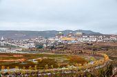 stock photo of tibetan  - Tibetan monastery in Shangri - JPG