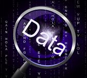 picture of byte  - Data Magnifier Meaning Information Search And Bytes - JPG