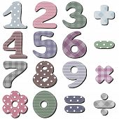 pic of poka dot  - scrapbook numbers on white background vector illustration - JPG