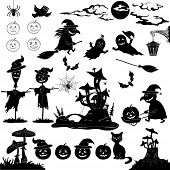 picture of grebe  - Halloween holiday cartoon - JPG