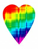 image of trippy  - A two dimensional tie dye colored heart design - JPG