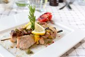 pic of swordfish  - Swordfish fillet grilled with souse lemon and rosemary - JPG