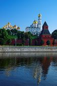 picture of archangel  - Annunciation and Archangels Cathedral and Ivan the Great Bell tower of Moscow Kremlin
