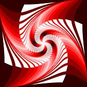 image of distortion  - Design colorful vortex movement illusion geometric background - JPG