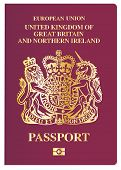 picture of passport cover  - The front cover of a new british passport - JPG