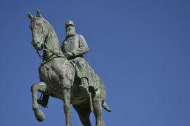 stock photo of leopold  - Leopold II statue  - JPG