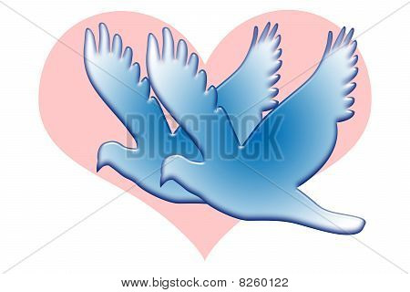 Blue Love Doves